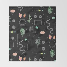 Witch Starter Kit: Potion - Illustration Throw Blanket