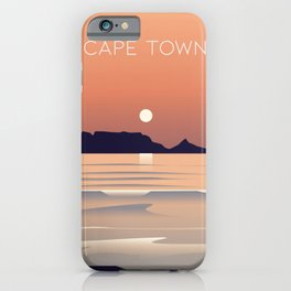 cape town poster iPhone Case