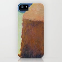 Artist's Study of Impressionist Monet's Haystacks iPhone Case