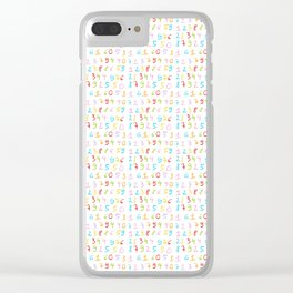 number 5- count,math,arithmetic,calculation,digit,numerical,child,school Clear iPhone Case