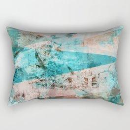 Industrial Blue Rectangular Pillow