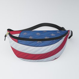 United States Flag flying in the breeze.  Long may she wave. Fanny Pack