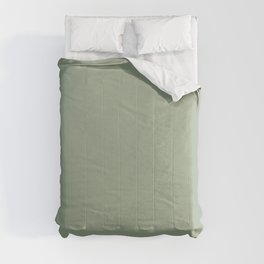 Best Seller Muted Green Single Solid Color Pairs Behr Roof Top Garden S390-4 Comforters