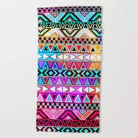 Tribal Pattern 08 Beach Towel