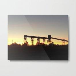 Terminal sunset Metal Print
