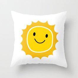 Kawaii Sun Friend Throw Pillow