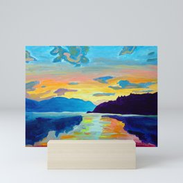 Crossing Lake Okanagan Mini Art Print