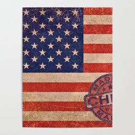 America American US USA Flag American Flag Poster