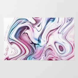 Liquid Marble - Pink and Blue Rug