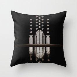 Islamic Architecture Inside Mausoleum Window Geometric Pattern Silhouette Mysterious Throw Pillow
