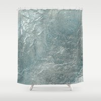 frozen Shower Curtains featuring Frozen by LLL Creations