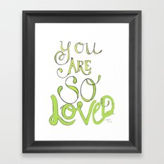 Loved Framed Art Print