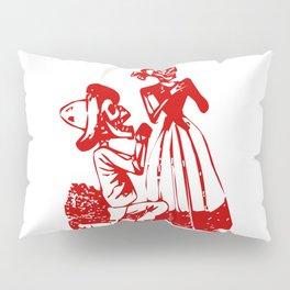 Skeleton Man and Woman Pillow Sham