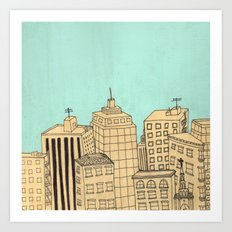 City scape Art Print