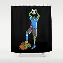 Zombie Footballer | Halloween Soccer Player Shower Curtain