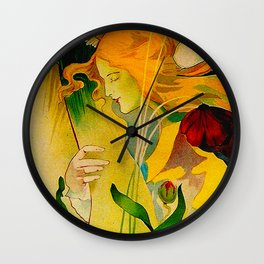 Vintage French Art Nouveau Ad Wall Clock