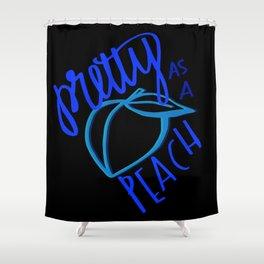 Southern Sayings- Pretty as a Peach Shower Curtain