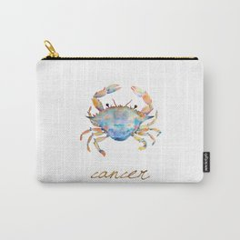 Watercolor Cancer Crab Carry-All Pouch