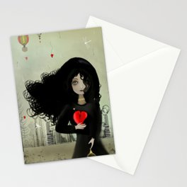 Dark Steampunk Valentine I Heart You Stationery Cards