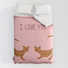 I love you cute tiger cubs  Comforters