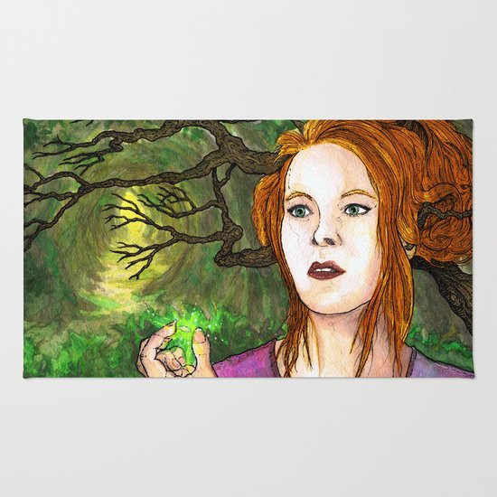 """Through the Woods"" by Cap Blackard Rug"