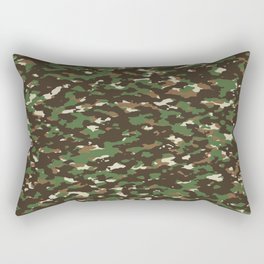 Camouflage: Woodland II Rectangular Pillow