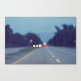 Blurry Road Canvas Print