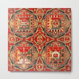 Mandala Buddhist 3 Metal Print
