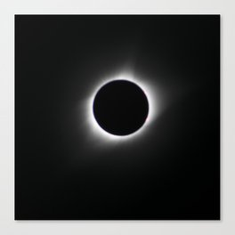 Total Solar Eclipse Corona Canvas Print