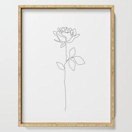 Fragile Rose Serving Tray