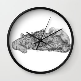 Tiger Naps Wall Clock