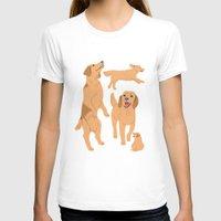 golden retriever T-shirts featuring Golden Retriever by Tomoko K