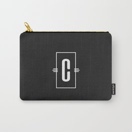 Modern Monogram  Letter C Black and White Carry-All Pouch