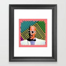 MAX HEADROOM     80's Inspiration Framed Art Print