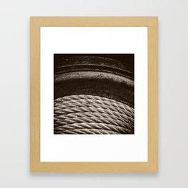 Rope in Sepia Framed Art Print