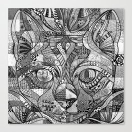Kitty Face Canvas Print
