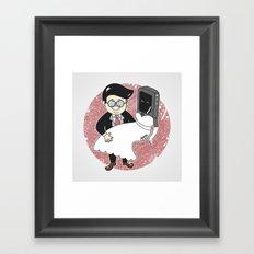 Geek in Love Framed Art Print