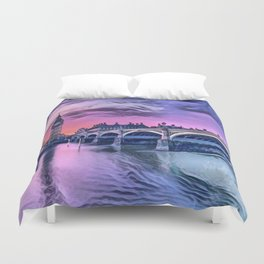 Big Ben with Sunset (London, England) Duvet Cover