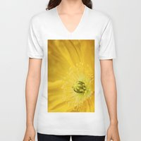 sunshine V-neck T-shirts featuring Sunshine by Kathy Dewar