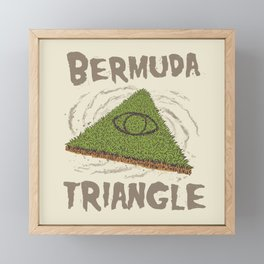 Bermuda Triangle Framed Mini Art Print