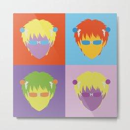 Saiki Kusuo pop art Metal Print