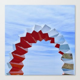 Sculptures'n'Sky Canvas Print