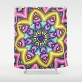 joy and energy -7- Shower Curtain