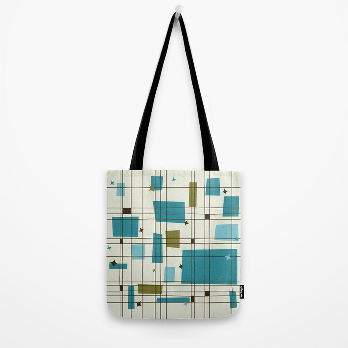 Mid-Century Modern (teal) Tote Bag