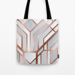 White Art Deco Tote Bag