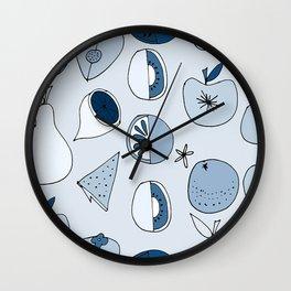 Classic Blue Fruits Ice Wall Clock