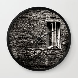 Closed Window Wall Clock
