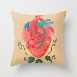 Corazon de Melon Throw Pillow