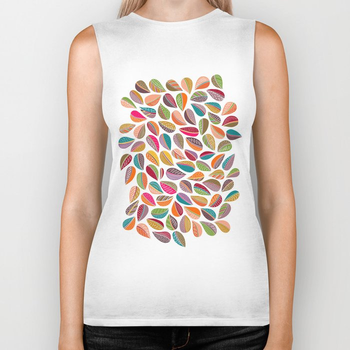 Leaf Colorful Biker Tank