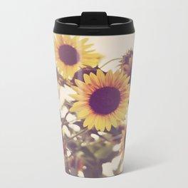 Sunflowers Metal Travel Mug